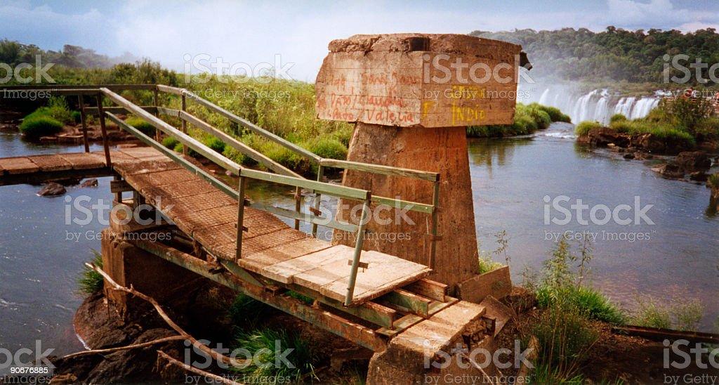 high water iguazu falls royalty-free stock photo