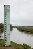 High water level marker outside Hue