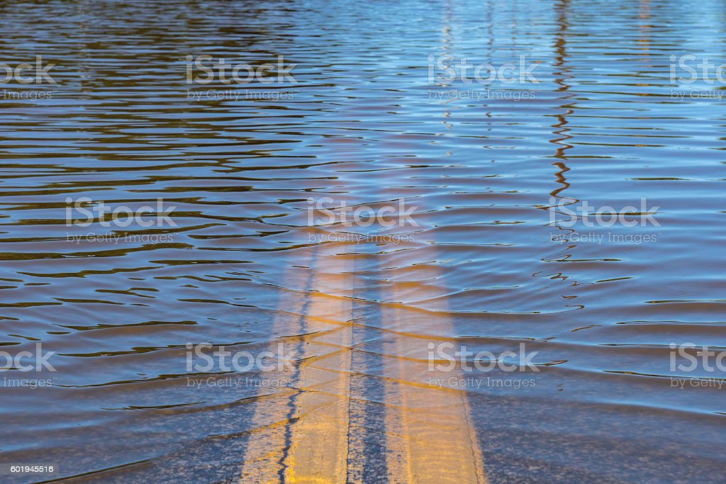 High Water Street Flooding stock photo