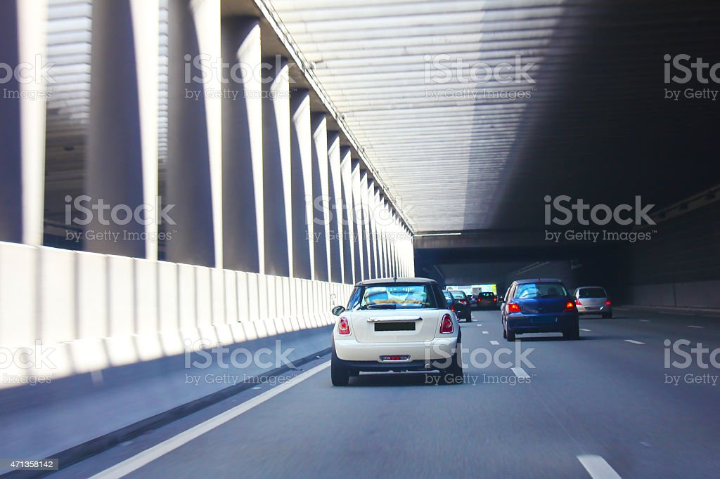 High Way Tunnel in Paris stock photo
