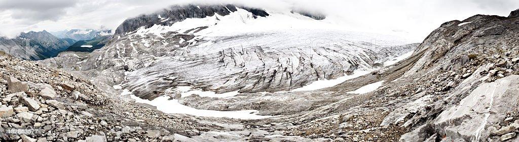 High-Alpine Haig Glacier Panorama stock photo