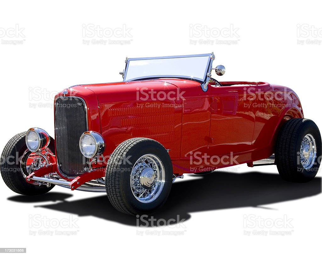 Highboy Roadster Hot Rod Isolated stock photo