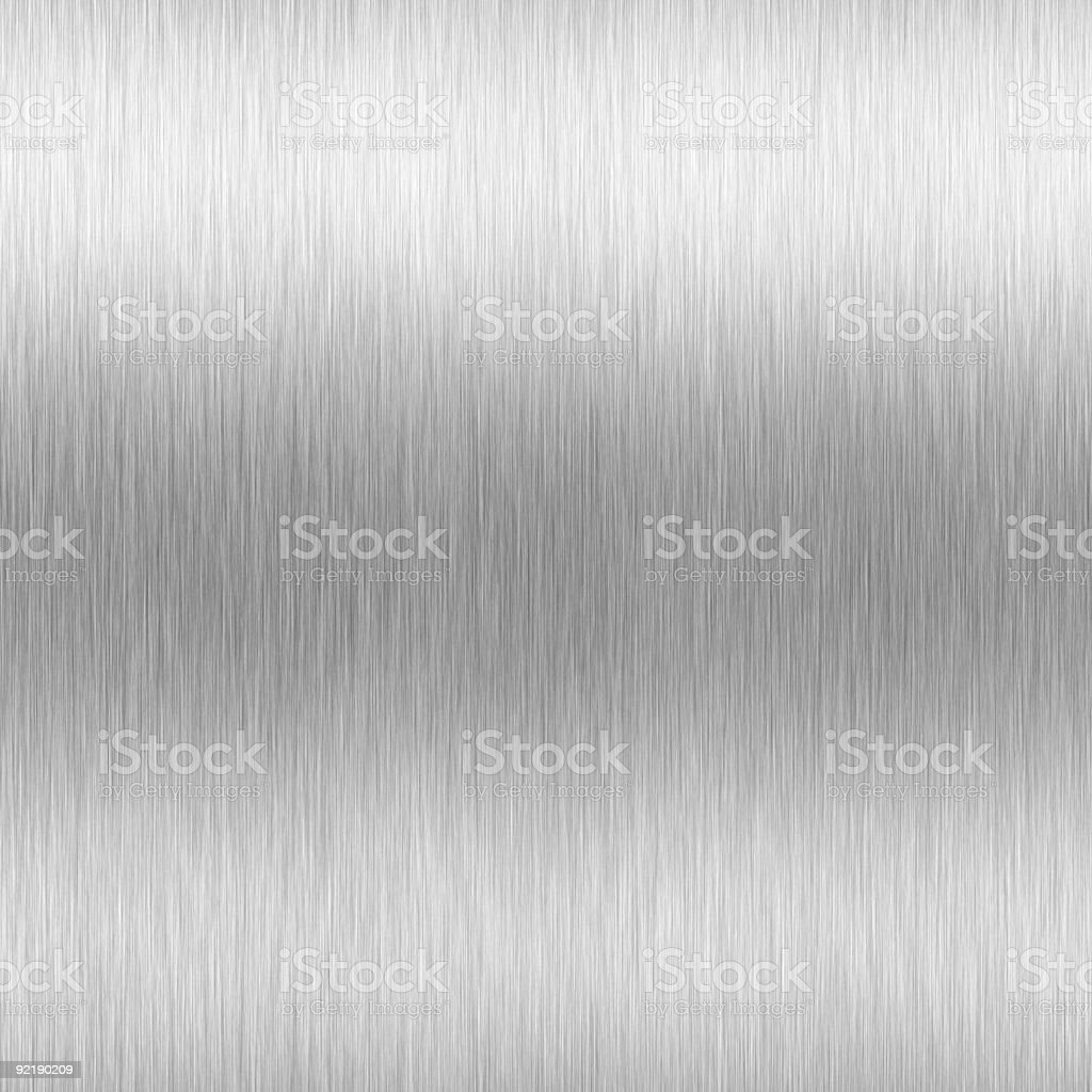 high-contrast brushed aluminum stock photo