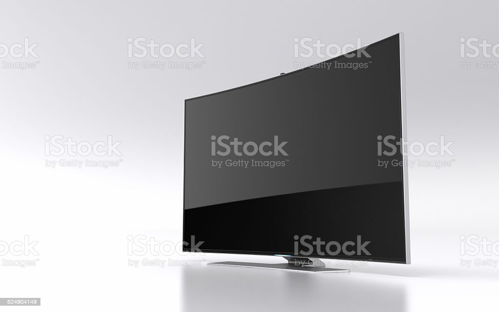 High-end curved smart led tv stock photo