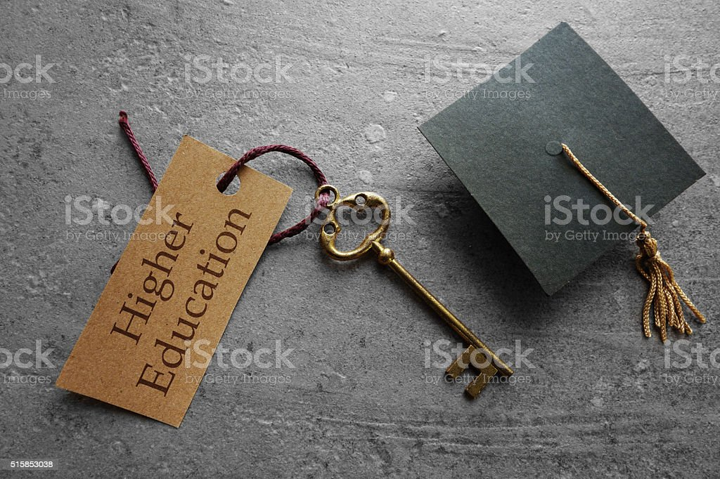Higher Education is the key stock photo