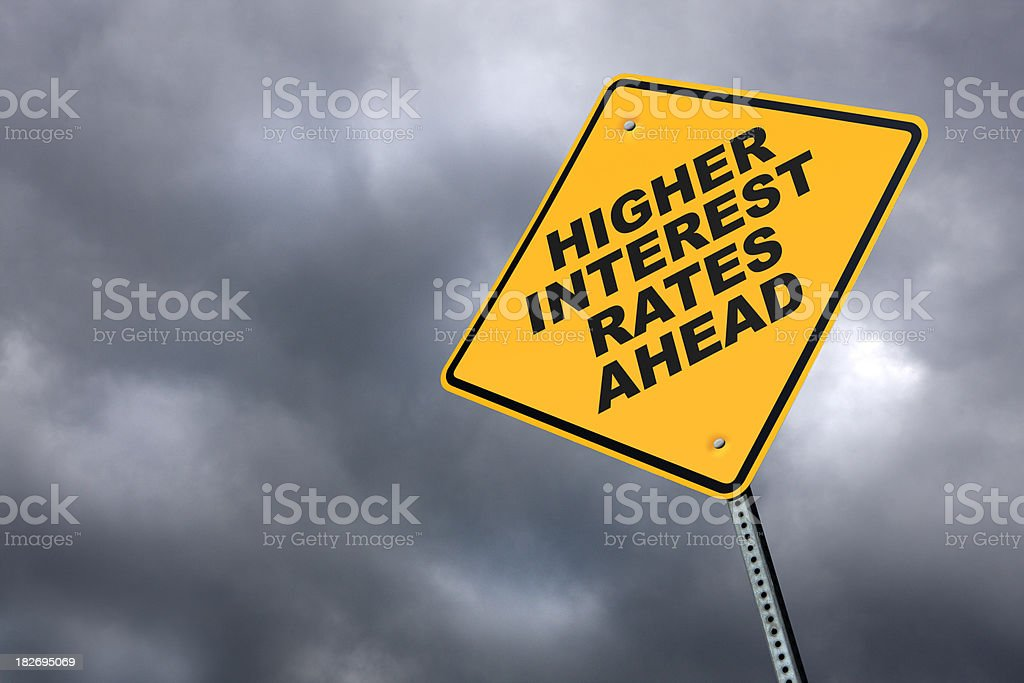 Higher Interest Rates Ahead stock photo