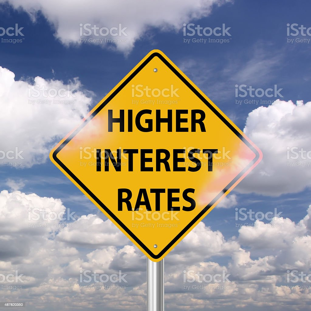 Higher interest rates stock photo