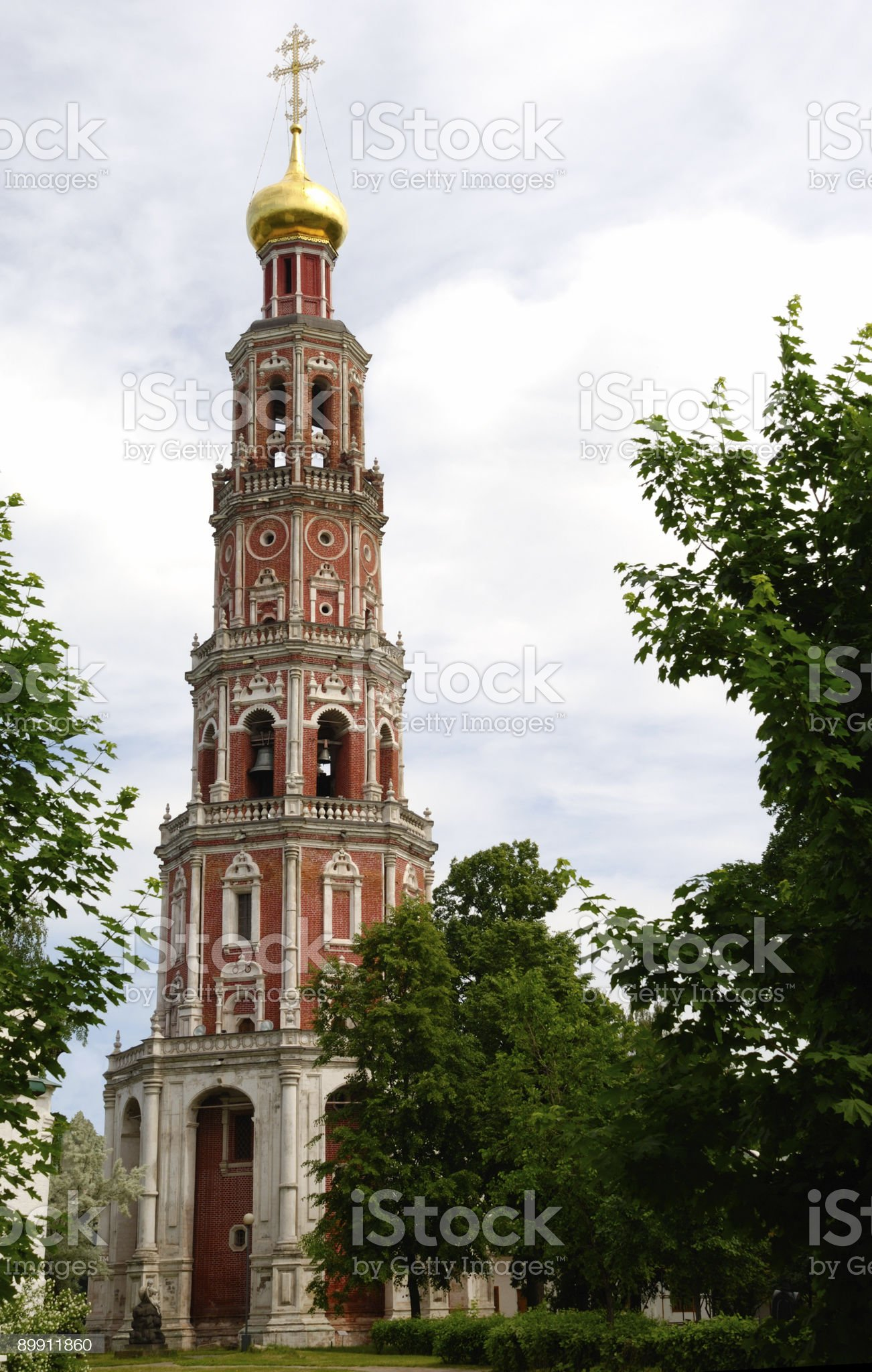 Highest Bell Tower In Moscow royalty-free stock photo