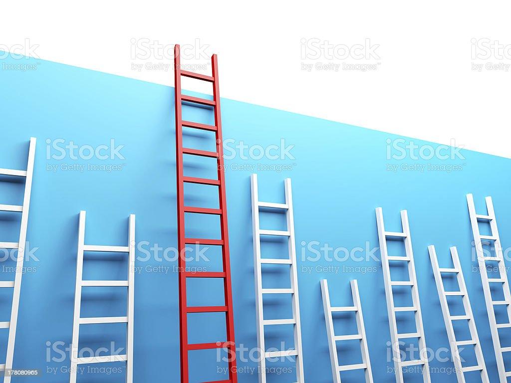Highest Ladder royalty-free stock photo