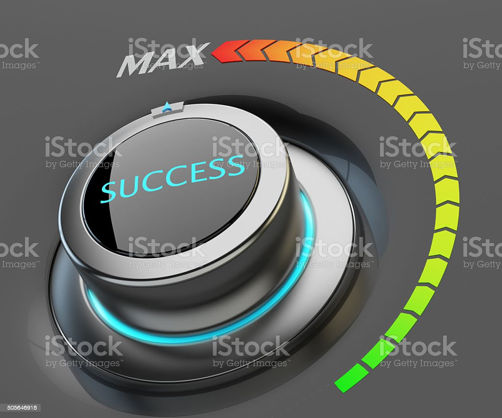 Highest level of success concept stock photo
