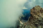 Highest mountain peak Zugspitze near Garmisch Partenkirchen. Bavaria, Germany.
