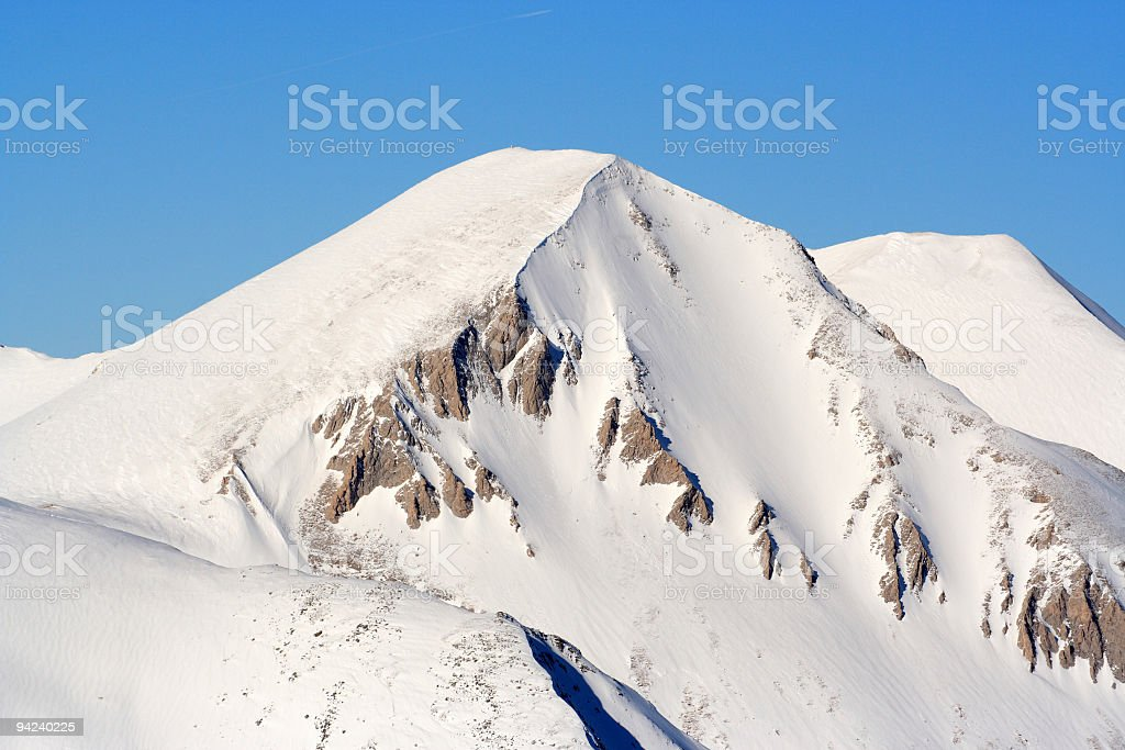 Highest peak in Pirin Mountain stock photo
