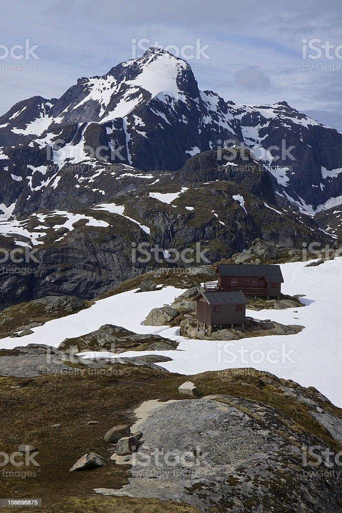 Highest peak on Lofoten royalty-free stock photo