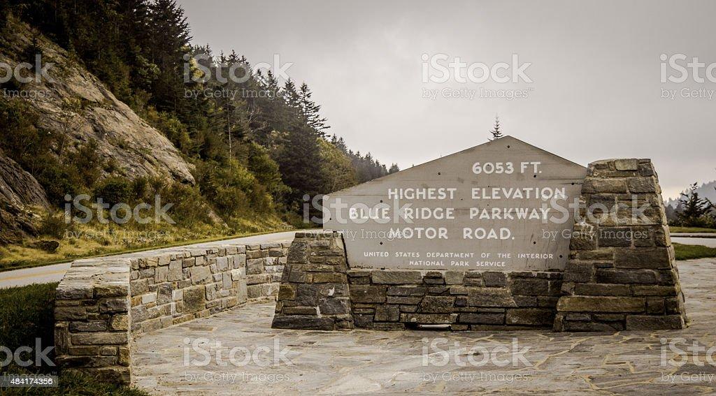 Highest Peak On The Blue Ridge Parkway stock photo
