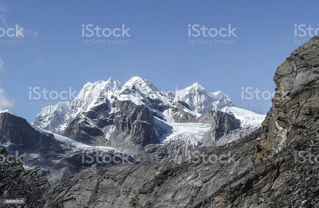 highest peaks of the world Amadablam stock photo