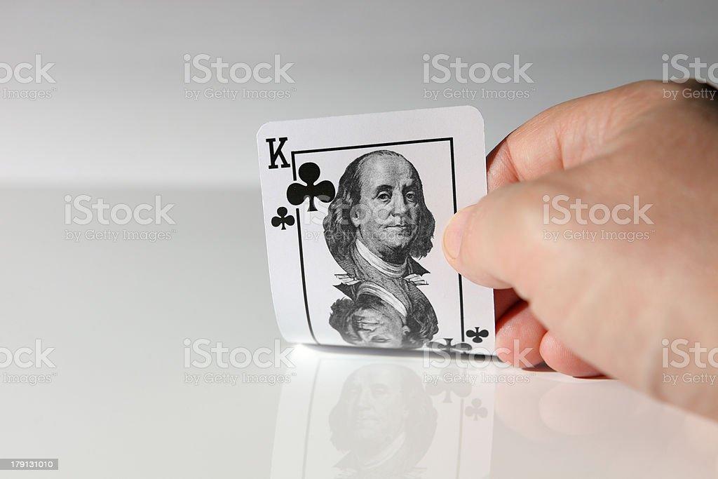 Highest trump card. royalty-free stock photo