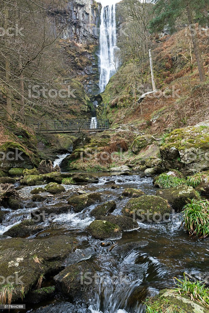 Highest Waterfall in Wales stock photo