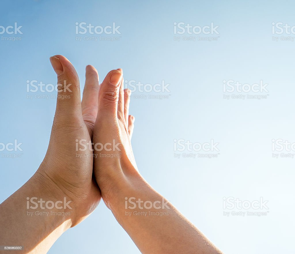 High-five stock photo