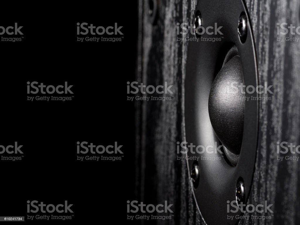 High-frequency audio speaker stock photo