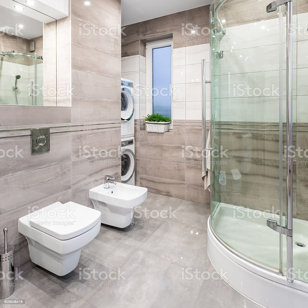 High-gloss bathroom idea stock photo