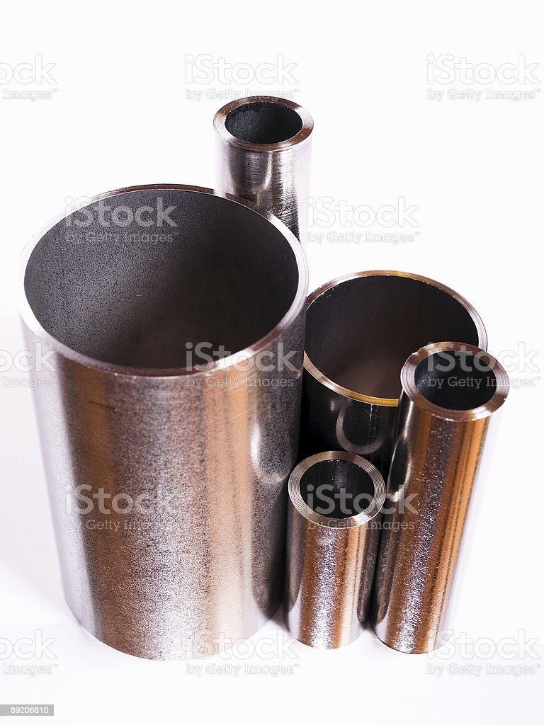 High-grade steel pipes royalty-free stock photo