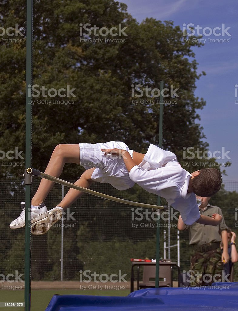 Highjump royalty-free stock photo