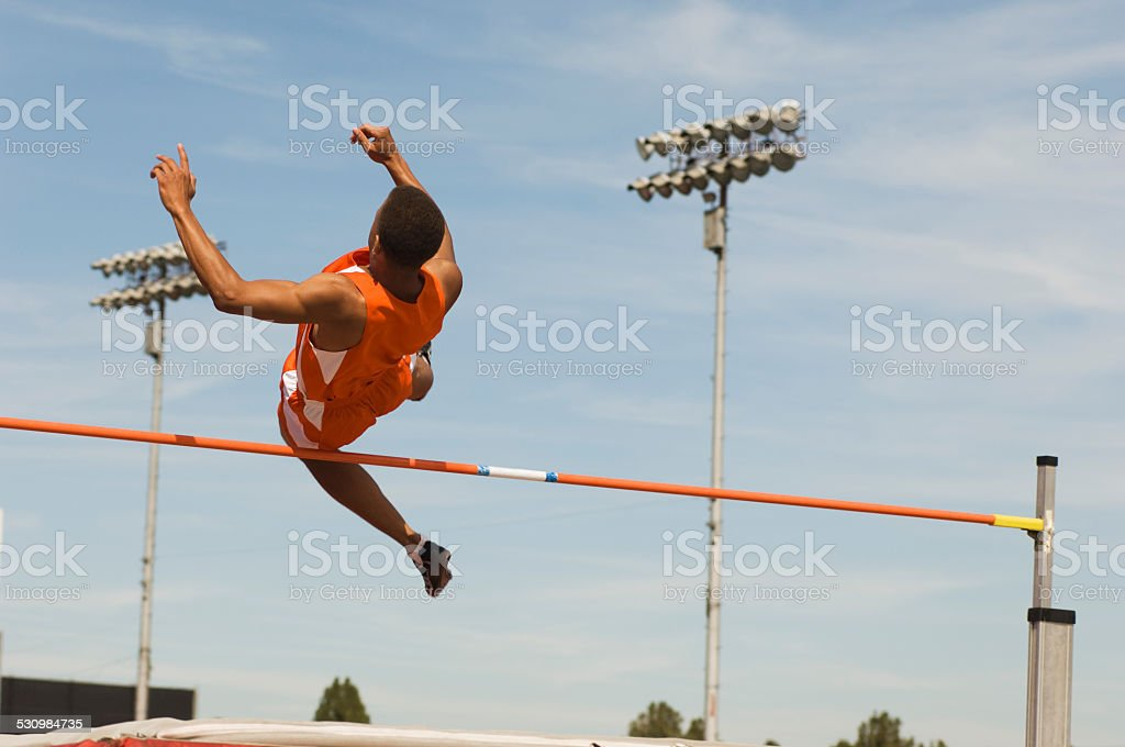 High-jumper stock photo