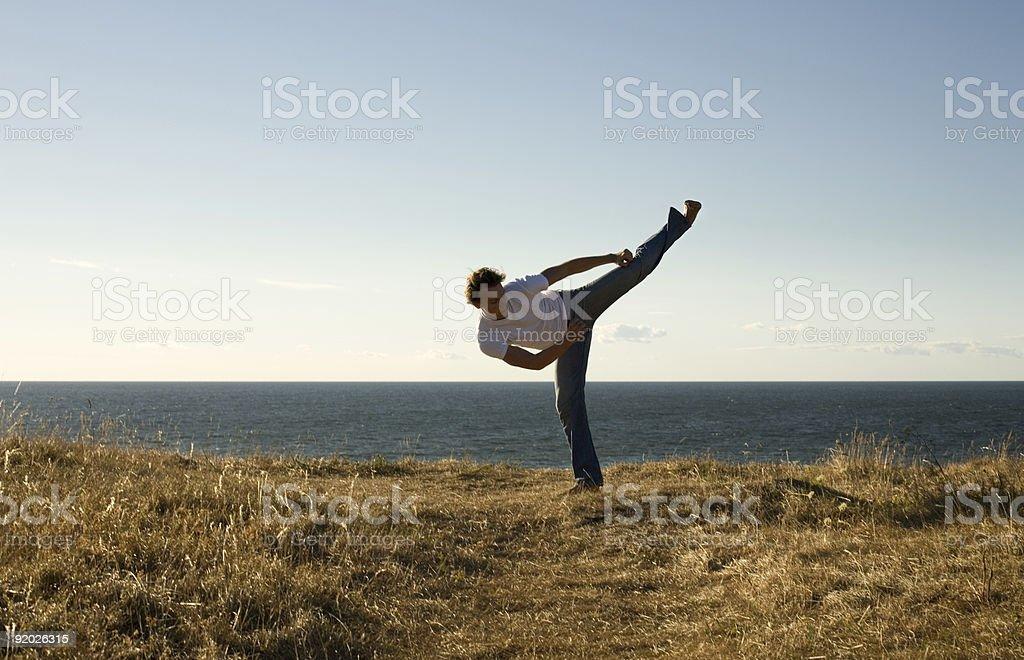 high-kick stock photo