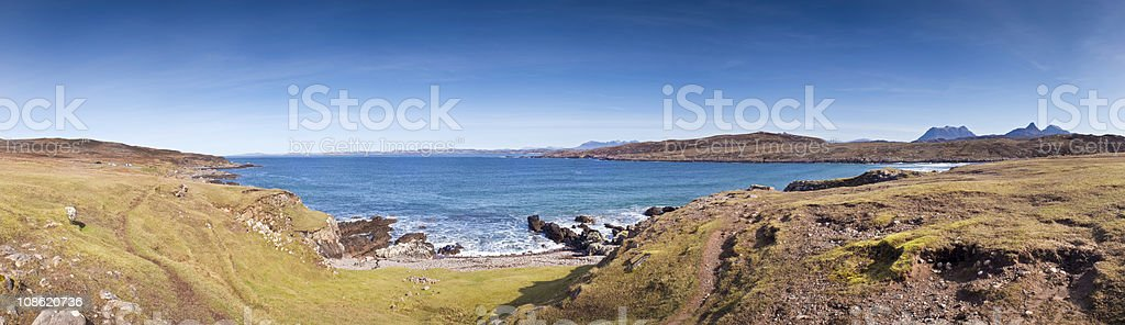 XXXL Highland Coast royalty-free stock photo