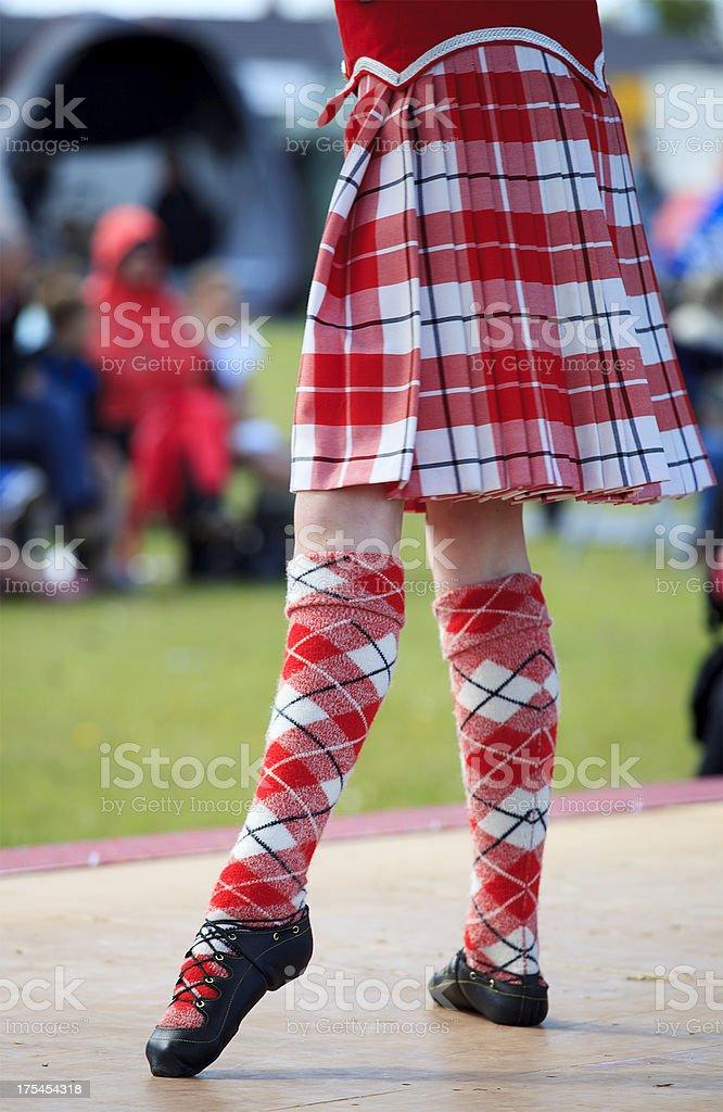 Highland Dancer stock photo