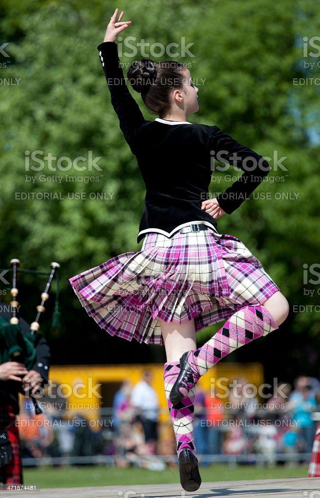 Highland Dancer, Scotland stock photo