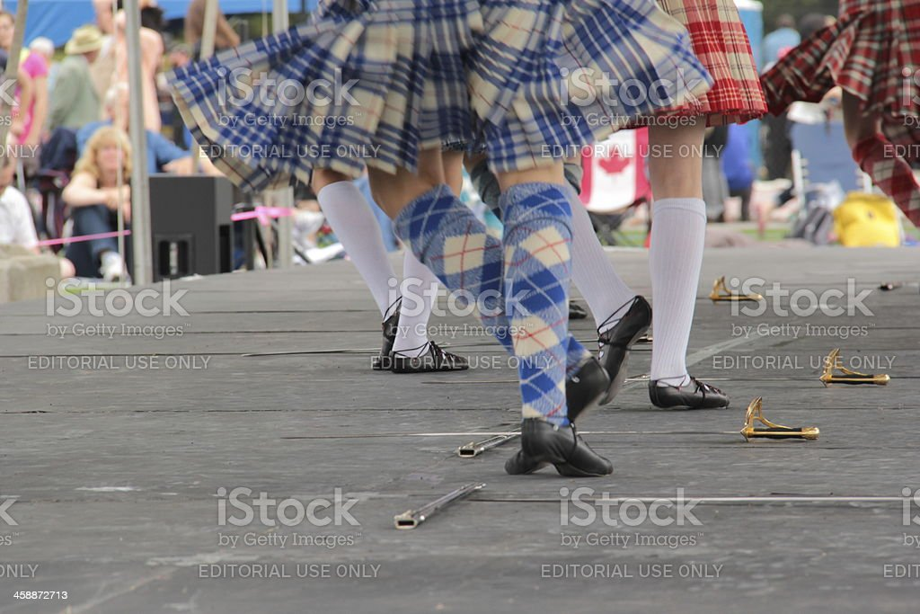 Highland Dancers stock photo