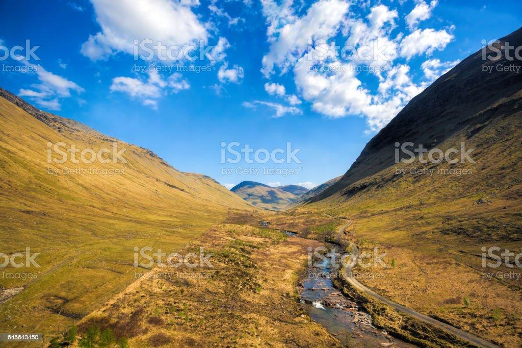 Highland in Scotland stock photo