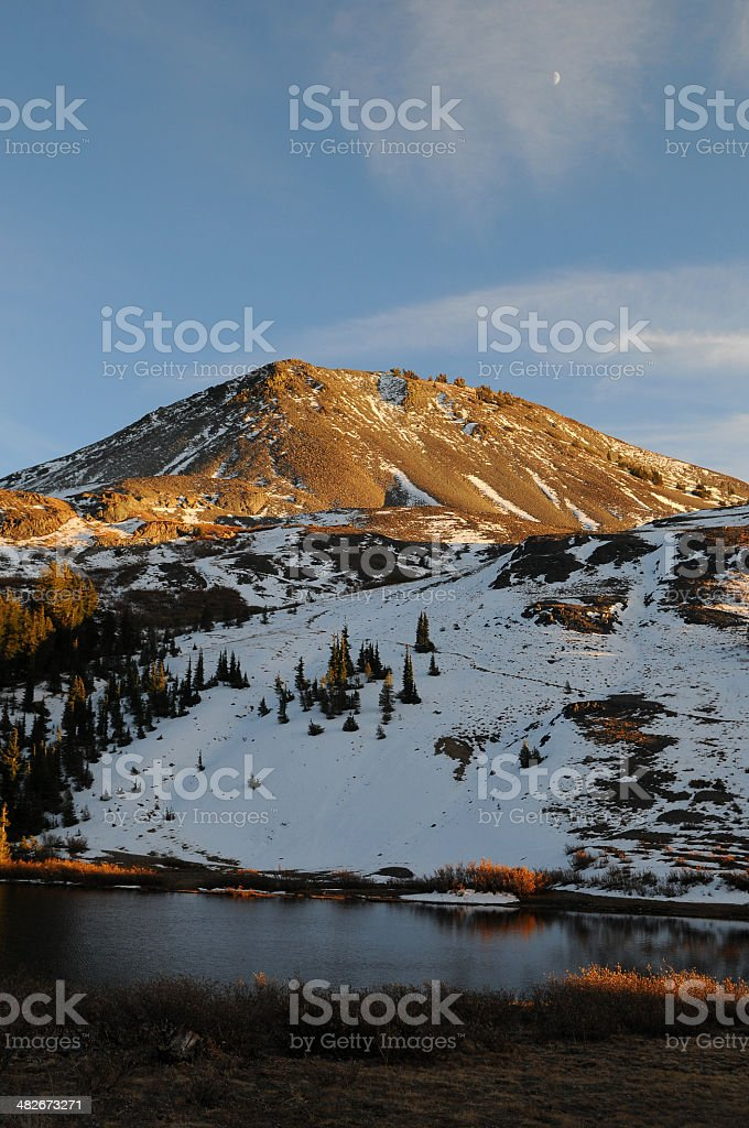 Highland Lakes Vertical royalty-free stock photo