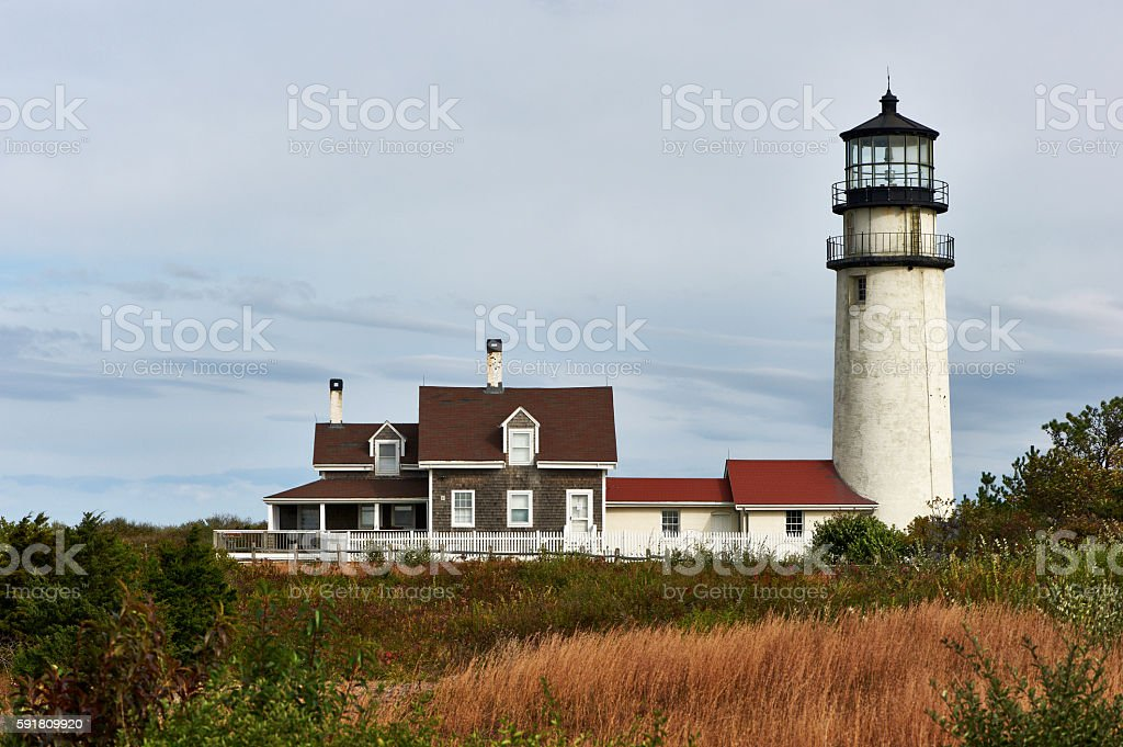 Highland Lighthouse at Cape Cod, built in 1797 stock photo