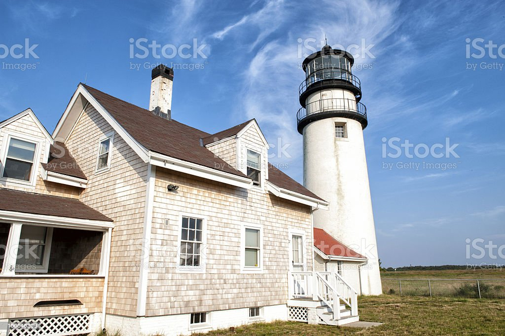 Highland lighthouse at Cape Cod royalty-free stock photo
