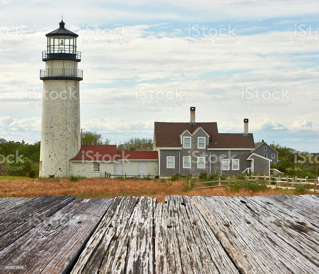 Highland Lighthouse at Cape Cod stock photo