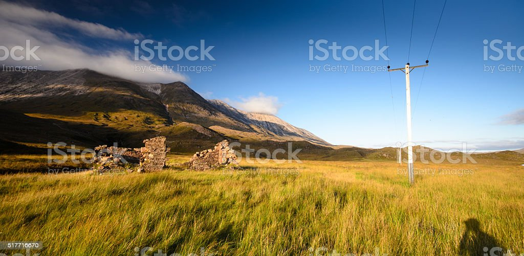Highland ruin in Glen Torridon stock photo
