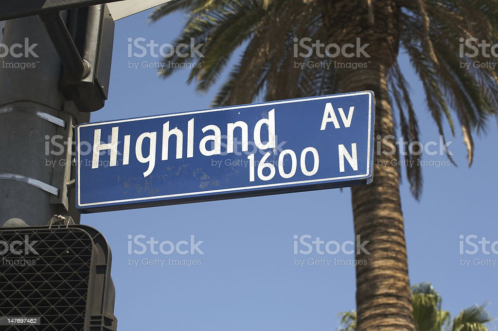 Highland Sign royalty-free stock photo