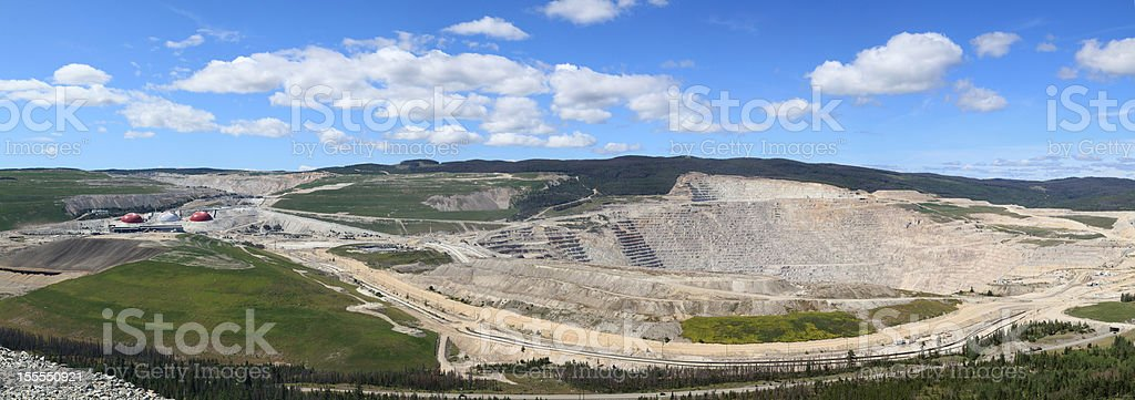 Highland Valley open-pit copper mine panorama view. royalty-free stock photo