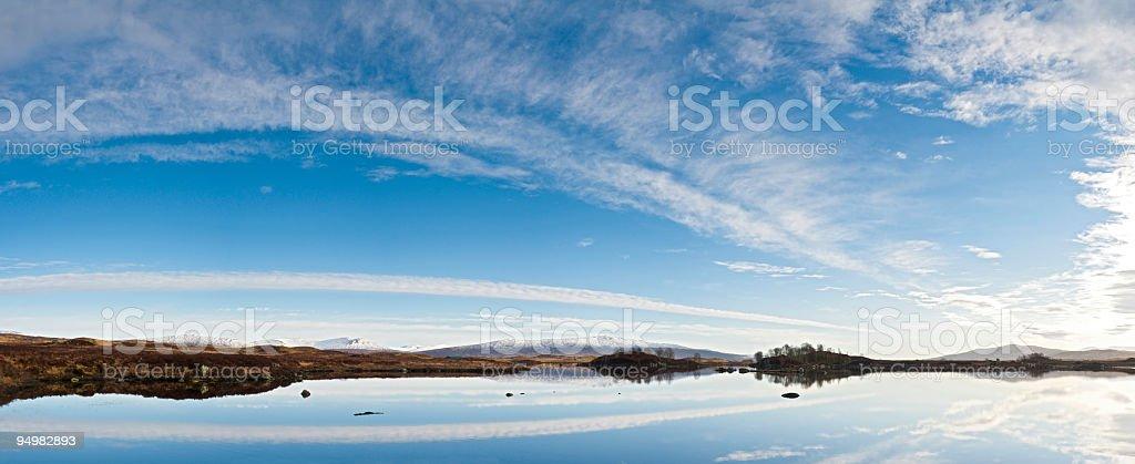 Highland wilds big skies stock photo