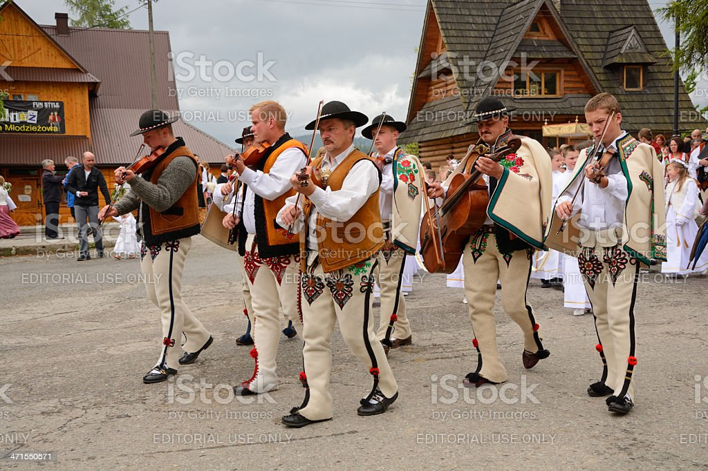 Highlander band stock photo