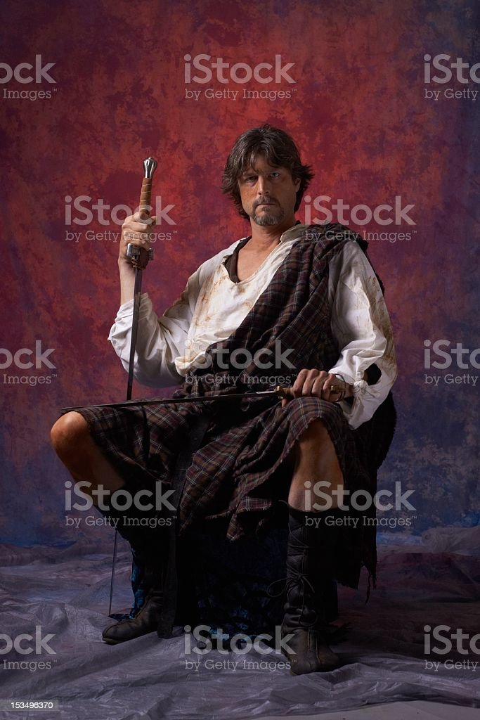 Highlander royalty-free stock photo