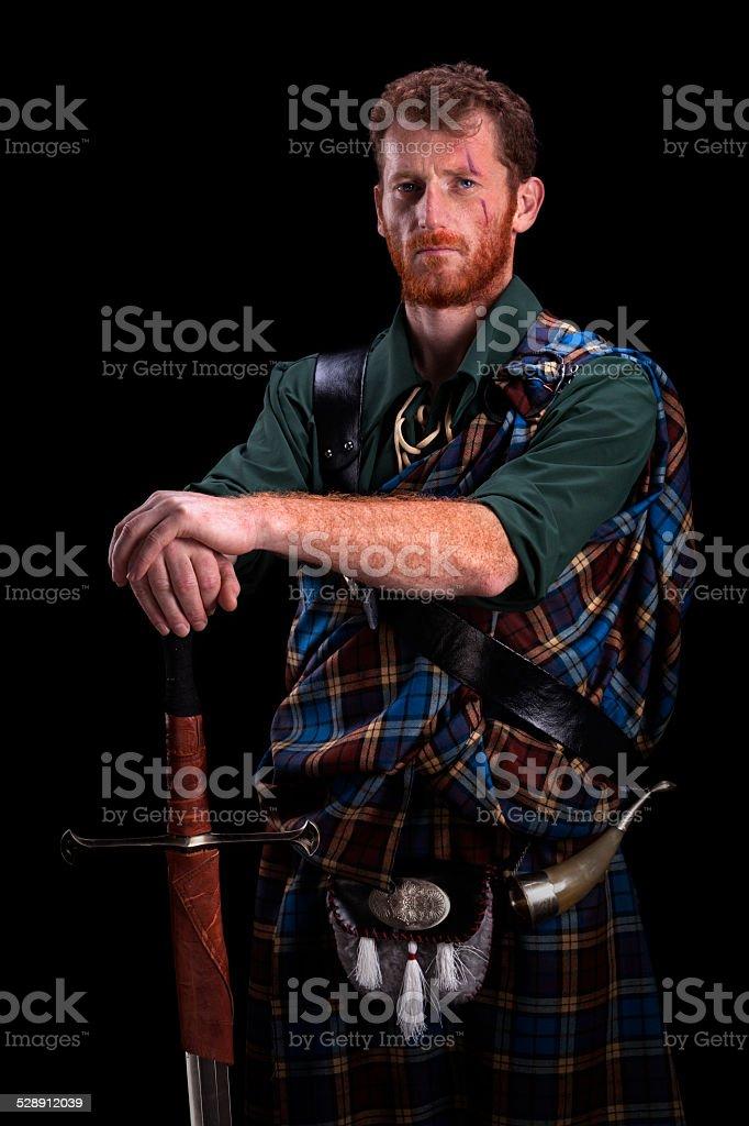 Highlander portrait stock photo