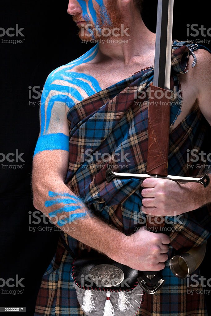 Highlander Tribe warrior 7 stock photo