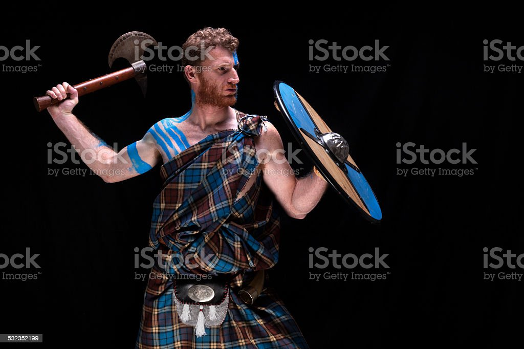 Highlander Tribe warrior stock photo