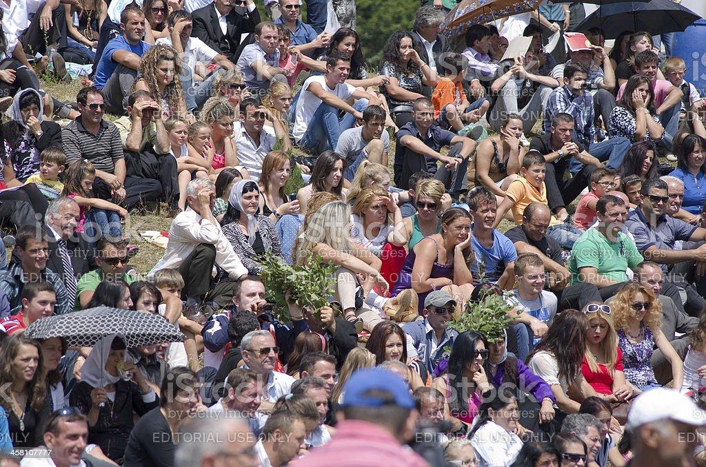 Highlanders Festival In Albania royalty-free stock photo