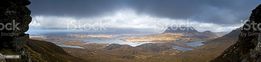 Highlands and islands Scotland stock photo
