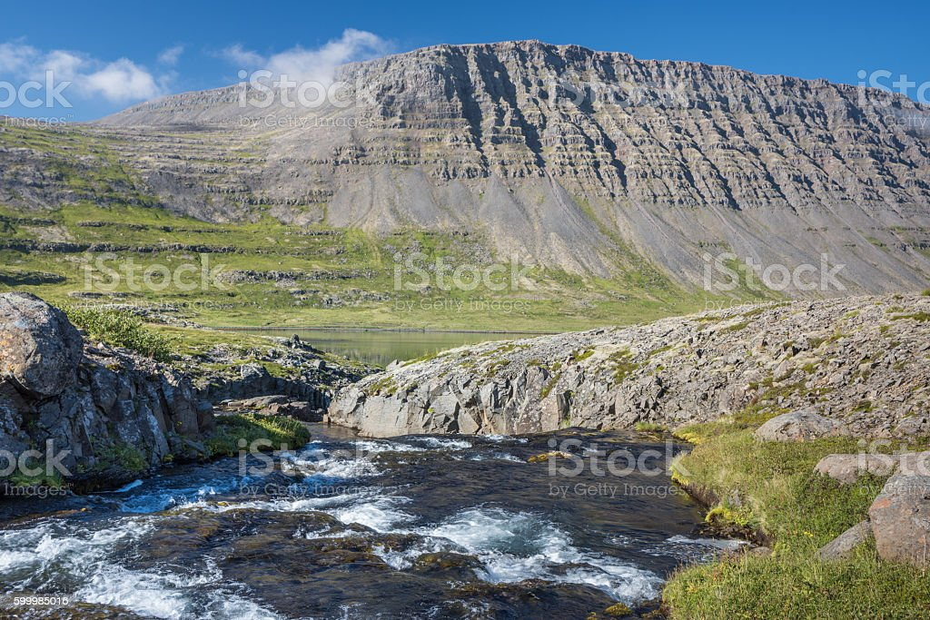 Highlands of the Western Fjords, Iceland stock photo
