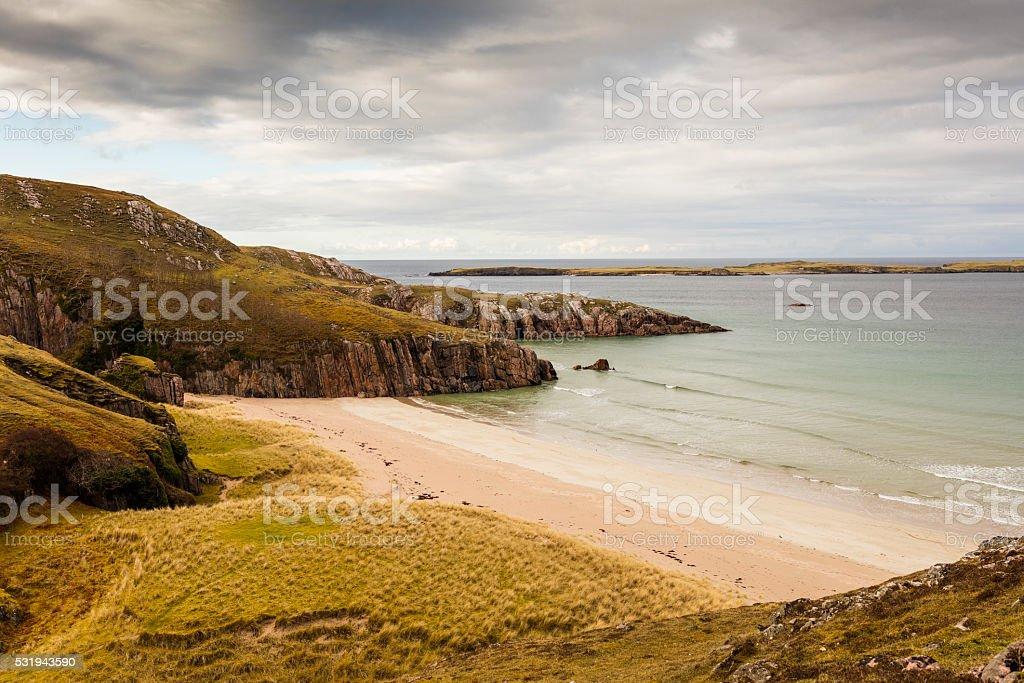Highlands, Scotland. Beaches and cliffs near Durness stock photo